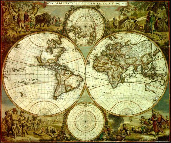 Map: Nova Orbis Tabula 1662