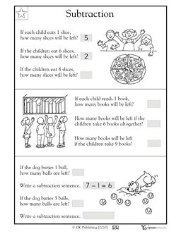 Subtraction word problems - 1.OA.1