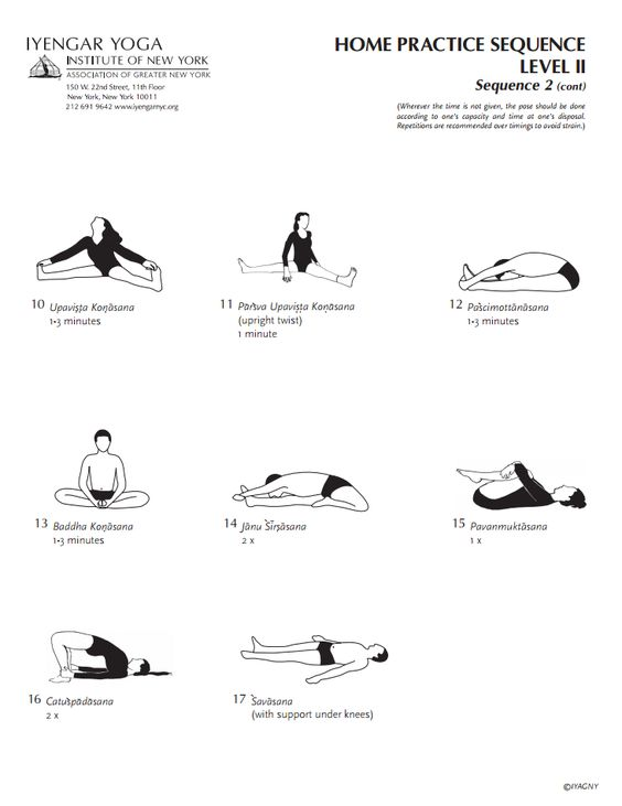Iyengar Yoga Institute of New York Home Practice Sequence Level 2 Sequence 2 (cont.)