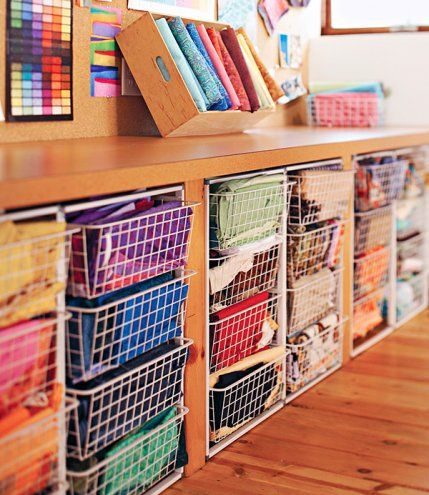 Cool Utilize Space Under A Table For Storing Fabric Add Rolling Carts Largest Home Design Picture Inspirations Pitcheantrous