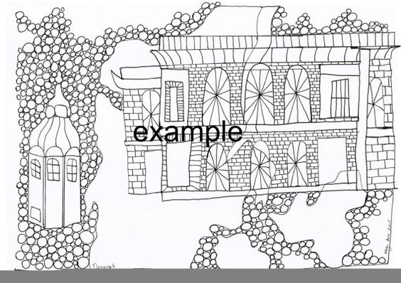 Denmark City Adult Colouring in by ArachneArt on Etsy