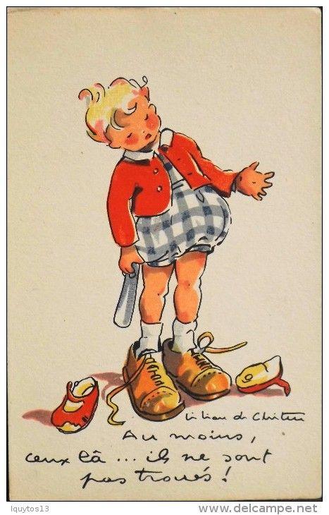 Cartes Postales > Thèmes > Enfants > Cartes humoristiques - Delcampe.fr: