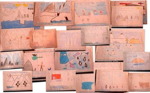 """Alunos da EMEB. Dr. Vicente Zammite Mammana (Grupo Escolar de Vila Planalto) produzem texto e arte versando sobre o tema """"O Brasil na Antártica"""", em São Bernardo do Campo"""