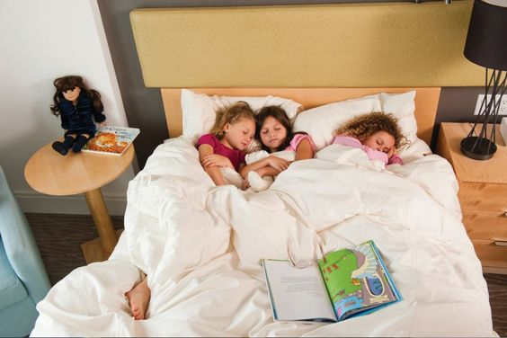 These sweet girls love this Living Fresh Collection bed!