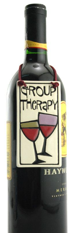 """""""Group Therapy"""" Wine Bottle Tag 