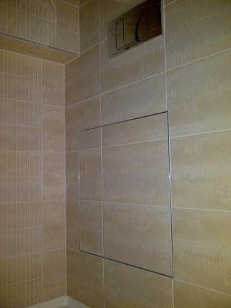 Bathroom access panel tile wall bathroom ideas for Tiled access panels bathroom