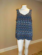 Catherines Women's Plus Geometric knit top Sleeveless Size:3X(26w-28w) New w/tag