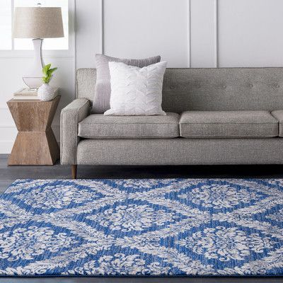 Bungalow Rose Andover Blue/Gray Area Rug Rug Size: