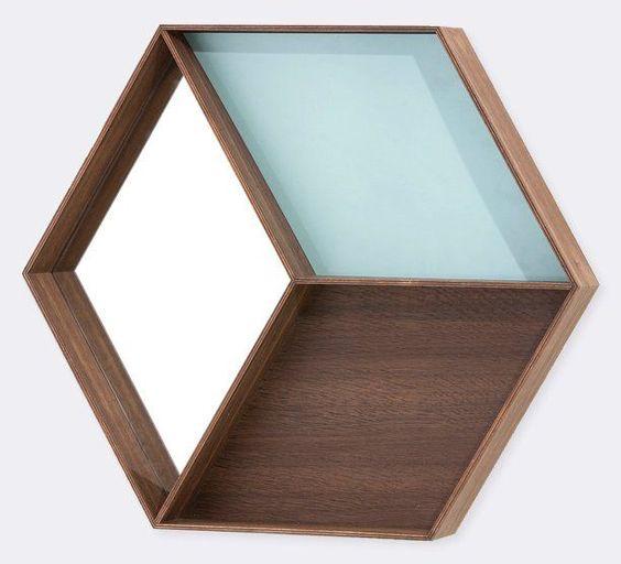 Ferm Living Spiegel mit Ablage  - badezimmerspiegel mit ablage