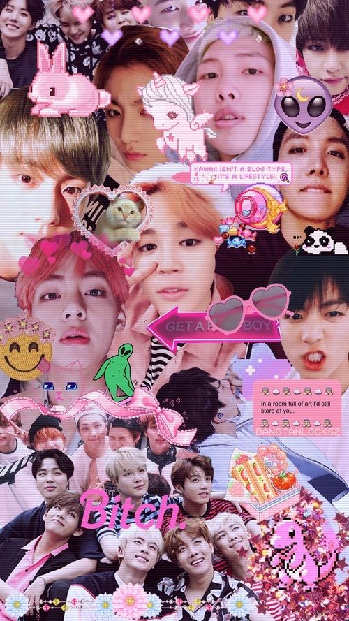 Image In Bts Wallpapers Collection By D A H I Gambar Bts Wallpaper Lucu Gambar