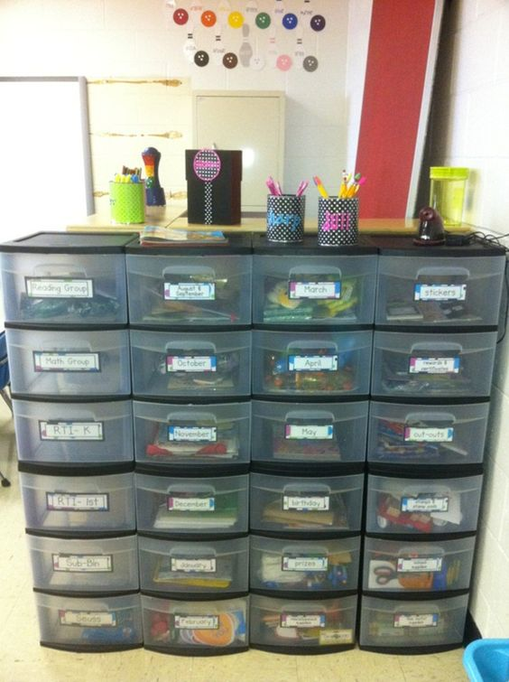 Love this organization for the classroom!! Done this before, kids loved having their own space!