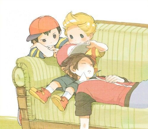 Ness, Lucas, and Pokemon Trainer