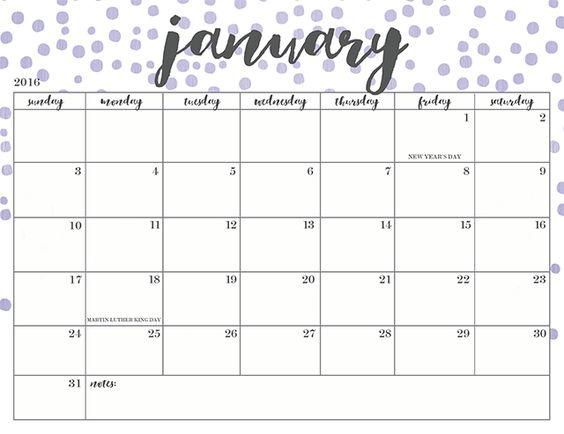 free printables 2016 organizer free printables monthly printable ...