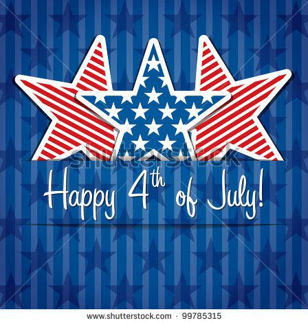 Happy 4th of July sticker cards in vector format. by Marina Riley, via Shutterstock