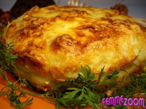 Recette Gâteau de pomme de terre et champignons