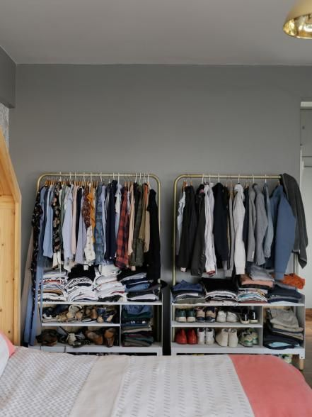 10 Stunning Open Closet Suggestions For Sophisticated Residence Closesto Closet Clothes Storage Clothes Storage Without A Closet Small Space Clothing Storage