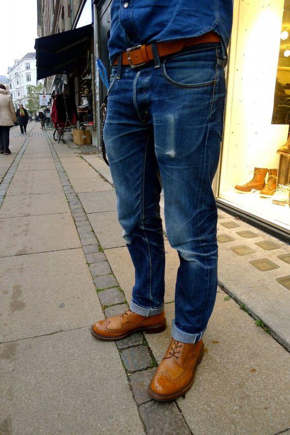 pinroll dar blue jeans