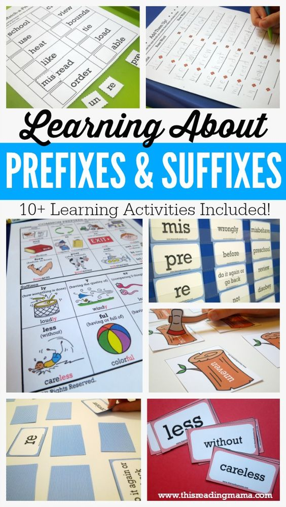 Learning About Prefixes and Suffixes FREE Pack