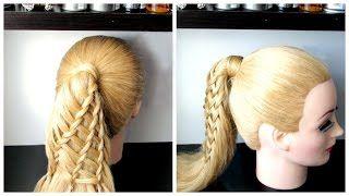 feather braid tutorial - YouTube
