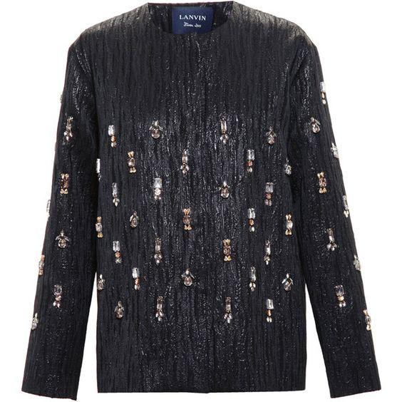 Lanvin Crystal Embellished Jacket (5 465 AUD) ❤ liked on Polyvore