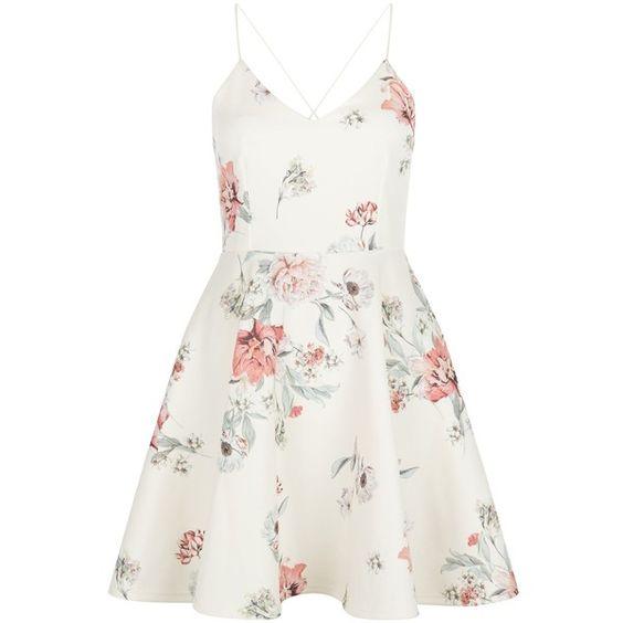 Floral prints, V neck dress and White floral dress on ...