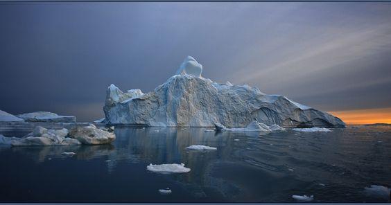 Arktik Eisberg Gletschereis greenland grönland Landschaft Mitternachtssonne Westgrönland