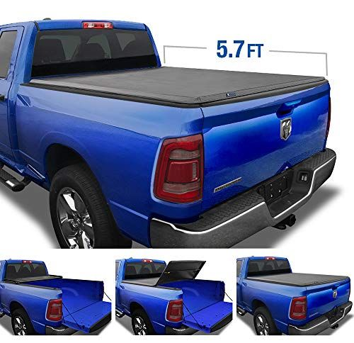 Tyger Auto Black Top T3 Soft Tri Fold Truck Tonneau Cover For 2019 2020 1500 New Body Style Fleetside 5 7 In 2020 Tonneau Cover Truck Tonneau Covers Truck Bed Covers
