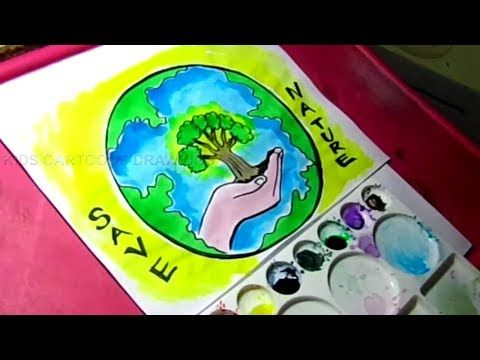 How To Draw Save Nature Save Environment Poster Drawing For Kids Youtube Nature Drawing For Kids Save Environment Posters Save Environment Poster Drawing