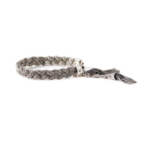 bracelet tresse argent