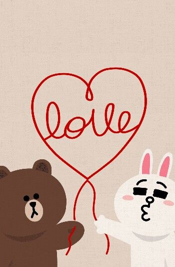 Love Wallpaper Line : Brown bear & cony rabbit off line deco Funny Pinterest ...