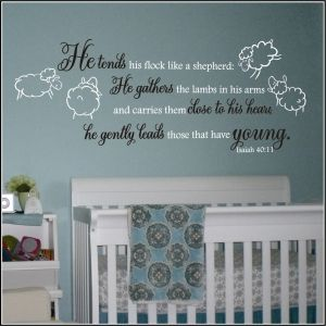 Lamb Theme Nursery Wall Quote Ecclesiastes Song Of