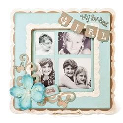 This is a shadow box from Quick Quotes, but I think it would be a cute layout.