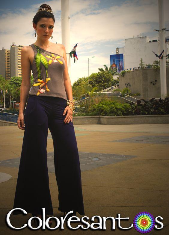 #Vestidos #Orquideas #pant #PintadoAMano HechoaMano #Coloresantos  #Cali #Colombia #CulturaBiodiversa