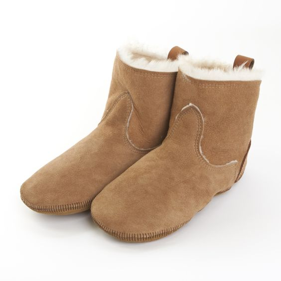 Womens Shearling Slippers -  Short Boot Liner