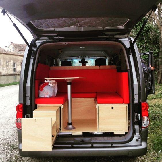 modulo camper nissan nv200 camperizaciones pinterest. Black Bedroom Furniture Sets. Home Design Ideas