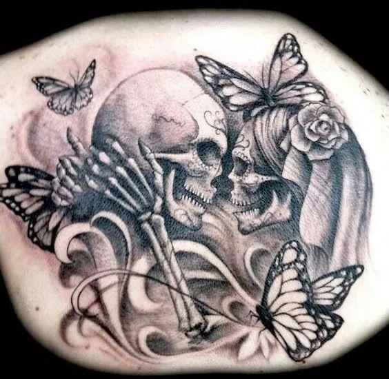 badass tattoos das gel bde gel bte und totenkopf tattoos. Black Bedroom Furniture Sets. Home Design Ideas