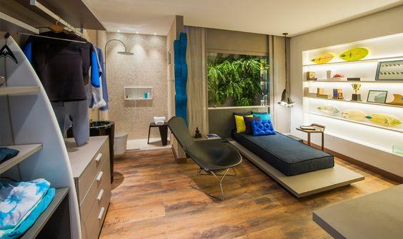 Casa Cor ® Alagoas - Arquiteta Tatiana Amaral - Suíte Adolescente / Crédito Luis Eduardo Cunha de Paula Vaz Casa Cor ® Alagoas