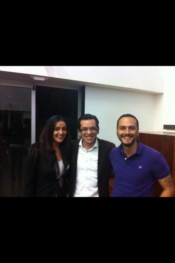 Con Camilo Sánchez, docente de Esumer que tuvo la iniciativa de #EsumerDigital y Sebastián Grisales también conferencista