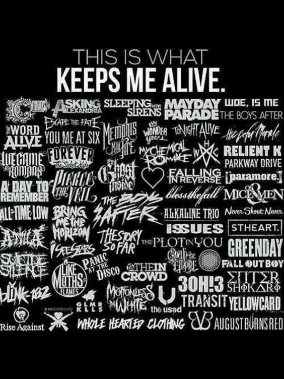 these bands helped me through everything. ill always be more than just a fan. just like they'll always be more than just a band