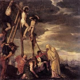 Calvary (after Veronese) - Berthe Morisot