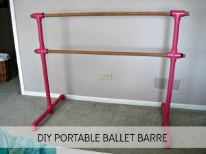 DIY Portable Ballet Barre: Phase 1 | Laughing Abi<---I want to do this for my barre workouts. The chairs I have are too high and the counter is not good either. This would a be a fun project...I think :)