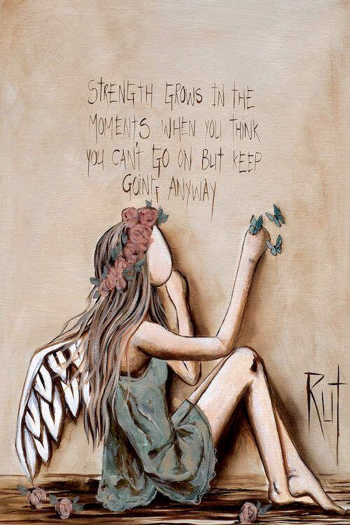 Strength Grows Art Print by Rut Art Creations | iCanvas