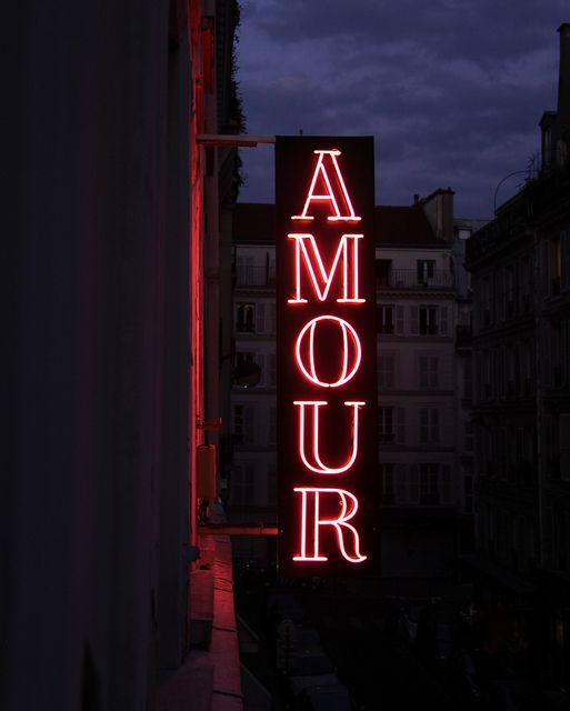 Hotel Amour Neon Sign - Montmartre, Paris by ChrisGoldNY, via Flickr