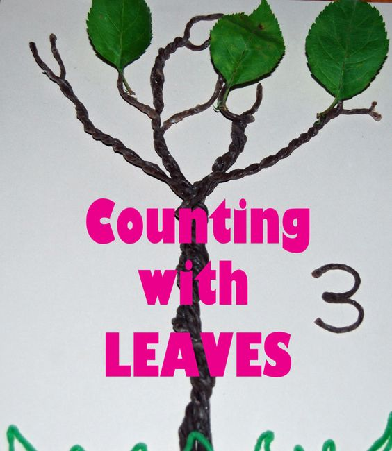 #Naturecrafts for Playful Learning - 1-to-1 Correspondence, basic addition, and subtraction with leaves