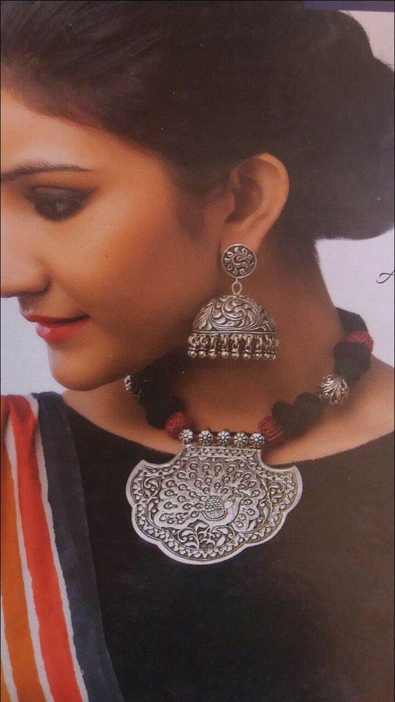 Stunning Silver Jhumkas for brides