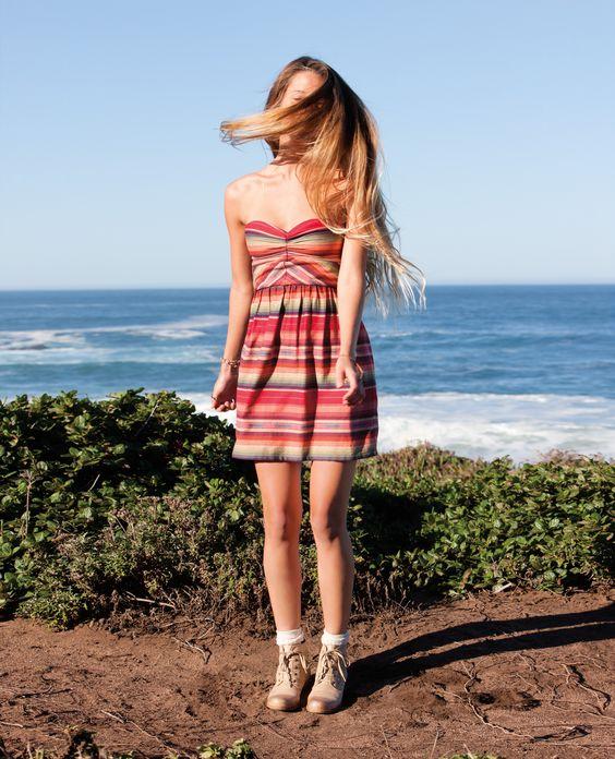 Monyca in the Fall Doll Dress, Big Sur, CA