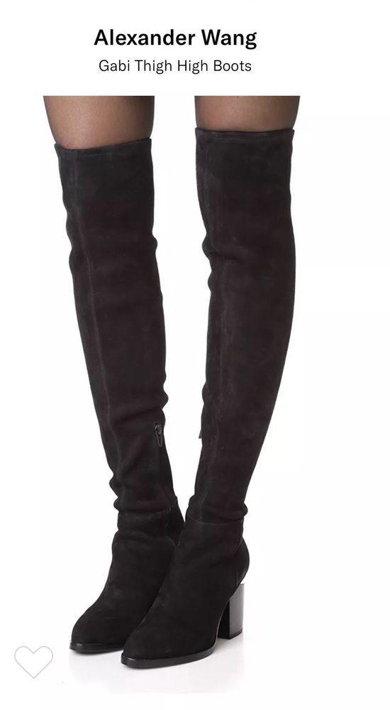 biggest discount on feet shots of united kingdom Alexander Wang Gabi Over the Knee Boots Thigh High Black 8.5 (38.5 ...
