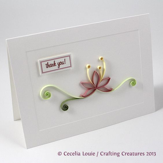 Paper Zen: Quilled Thank You Cards (5 of 8)