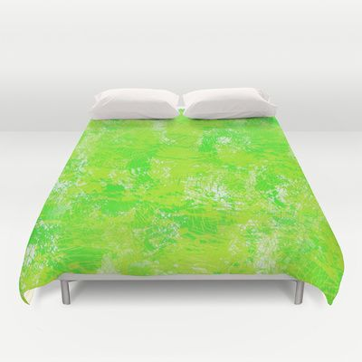 Painted Green Duvet Cover by KCavender Designs - $99.00