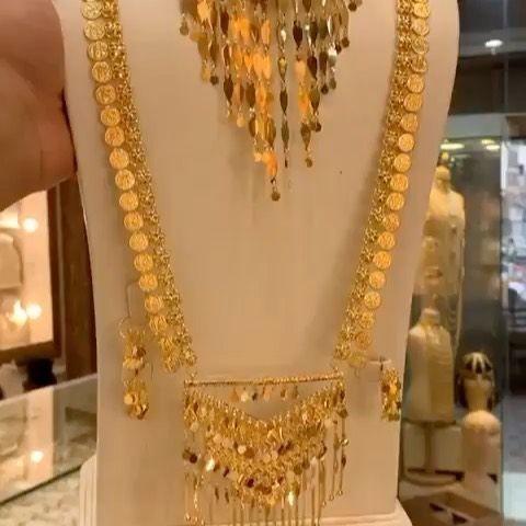 قولدن ستار الاحتياطي On Instagram طقم كرسي رموش العروس ملكي ذهب صافي عيار ٢١ Indian Brides Jewelry Gold Necklace Designs Gold Jewelry Fashion